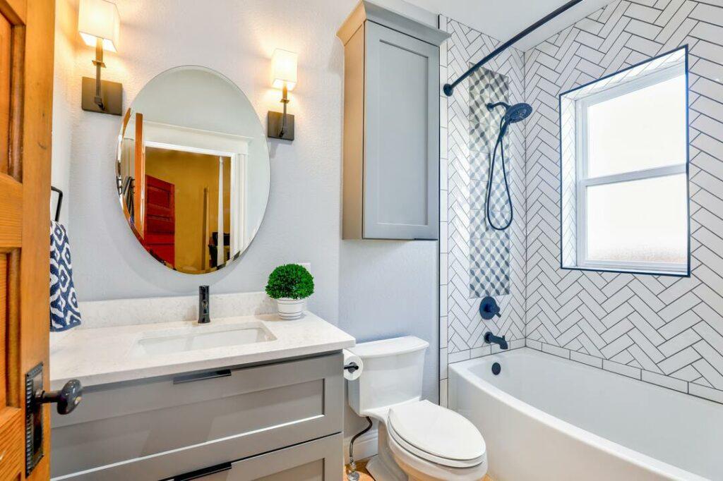 Badezimmer Fliesenwand Muster